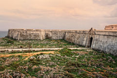 Sagres fortress in rugged terrain Royalty Free Stock Photography