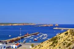 Sagres harbour on the Algarve Stock Photo