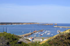 Sagres harbour on the coast of Algarve in Portugal Stock Images