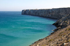 Sagres kust Algarve, södra Portugal Arkivbild