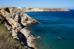 Sagres kust Algarve, södra Portugal Arkivfoton