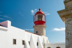 Sagres Lighthouse at Saint Vincent Cape, Algarve, Portugal Stock Image