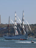 Sagres tall ship in Tagus river Stock Image