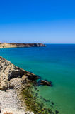 Sagres 2. A view of the cliffs in Sagres, Portugal Stock Photos
