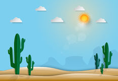 Saguaro Cactus in the desert nature background Stock Photos