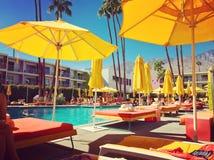 Saguaro Hotelowy basen Obrazy Royalty Free