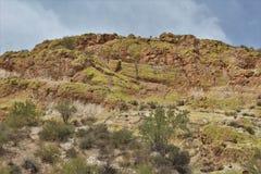 Saguaro Jeziorny rezerwuar, Maricopa okręg administracyjny, Arizona, Stany Zjednoczone zdjęcie stock
