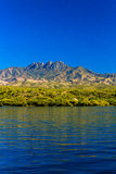 Saguaro Lake Mts. Royalty Free Stock Photos