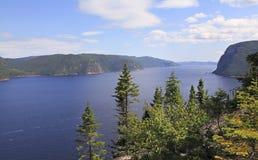 Saguenay海湾,魁北克,加拿大 免版税图库摄影