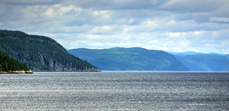 Saguenay fjord panorama. Panorama of the Saguenay fjord, Quebec Royalty Free Stock Photography