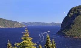 Saguenay fjord, Quebec royaltyfri foto
