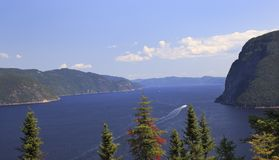 Saguenay Fjord in Quebec, Canada stock photography
