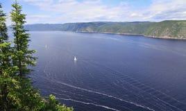 Saguenay fjord, Quebec, Kanada royaltyfri bild