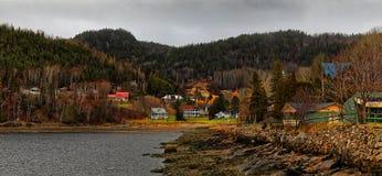 Saguenay Fjord in Saint Fulgence royalty free stock photo