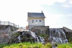Saguenay gummilacka St-Jean, Quebec, Kanada fotografering för bildbyråer