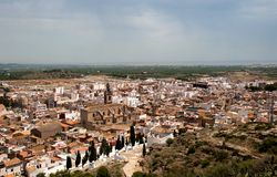 Sagunto. View of Sagunto historic town in Spain Royalty Free Stock Images