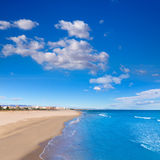 Sagunto beach in Valencia in sunny day in Spain Royalty Free Stock Photography