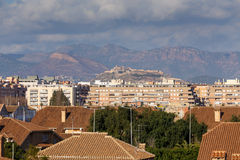 Sagunto Castle from the Port. Valencia, Spain Royalty Free Stock Image