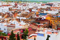 Sagunto from hill in summer day.  Valencian Community Stock Images