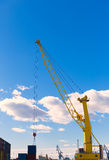 Sagunto port dock crane in Valencia Royalty Free Stock Photo