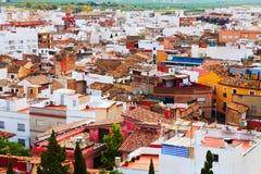 Sagunto van heuvel in de zomerdag.  Valencian Gemeenschap Stock Afbeeldingen