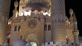 Sahaba mosk? i den gamla marknaden p? natten Egypten Sharm el Sheikh lager videofilmer