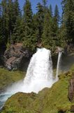 Sahalie Falls in Oregon Royalty Free Stock Photo