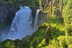 Sahalie spadki, Kaskadowy pasmo, Oregon obrazy stock