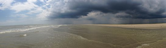 Sahalin Island, Tulcea county, Romania. Storm on Sahalin Island, Tulcea county, RomaniaSea, island, Danube Delta Royalty Free Stock Images