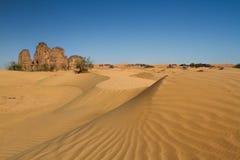 Sahara's krajobraz Djanet, Południowy Algieria, afryka pólnocna fotografia royalty free