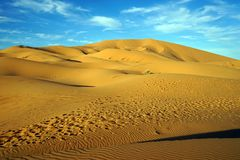Sahara öken i Sahara Royaltyfri Foto