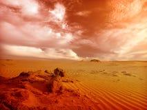 Sahara. Beautiful landscape in the Sahara desert Royalty Free Stock Photos