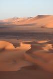 The Sahara in Algeria. The desert sahara in algeria Royalty Free Stock Photos