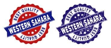 Sahara Best Quality Stamp occidentale con effetto graffiato Immagine Stock Libera da Diritti