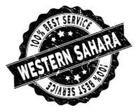 Sahara Best Service Stamp occidentale con stile sporco Immagine Stock
