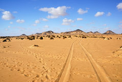 Sahara, the Black desert, Egypt Royalty Free Stock Photo
