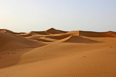 Sahara desert. Sanddunes of Erg Chebbi in the south of Morocco royalty free stock photography