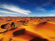Sahara Desert. Sand dunes of Sahara Desert, Tadrart, Algeria royalty free stock photo
