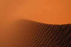 Sahara Desert. The sand dunes of Erg Chebbi in the Sahara Desert in Morocco Stock Photos