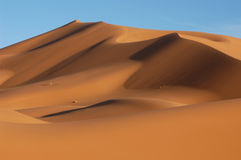 Sahara Desert. The sand dunes of Erg Chebbi in the Sahara Desert in Morocco Royalty Free Stock Image