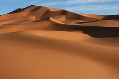 Sahara Desert. The sand dunes of Erg Chebbi in the Sahara Desert in Morocco Royalty Free Stock Images