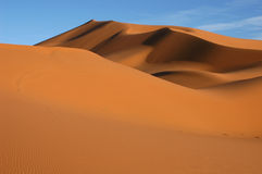 Sahara Desert. The sand dunes of Erg Chebbi in the Sahara Desert near Merzouga, Morocco Stock Photo