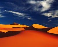 Sahara Desert, Algeria. Sand dune in Sahara Desert at sunset, Tadrart, Algeria Royalty Free Stock Photo