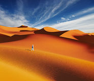 Sahara Desert, Algeria. Sand dunes of Sahara Desert, Algeria Stock Photo
