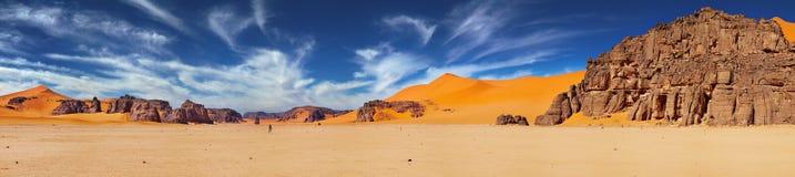 Sahara Desert, Algeria. Sand dunes and rocks, Sahara Desert, Algeria Stock Image