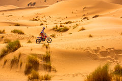 Sahara Desert is also a place for different extreme sports. Sahara Desert in Morocco is also a place for different extreme sports Stock Photo