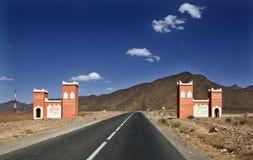 Sahara desert doors Royalty Free Stock Image