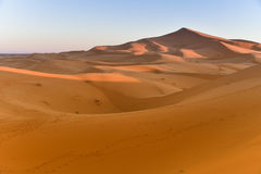 Sahara desert dunes at sunrise Morocco Stock Photography