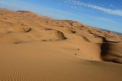 Sahara desert - Erg Chebbi. Erg Chebii is a part of Sahara. Desert is in Morocco near to Merzouga Stock Images