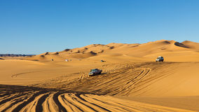 Sahara Desert Highway Royalty Free Stock Images